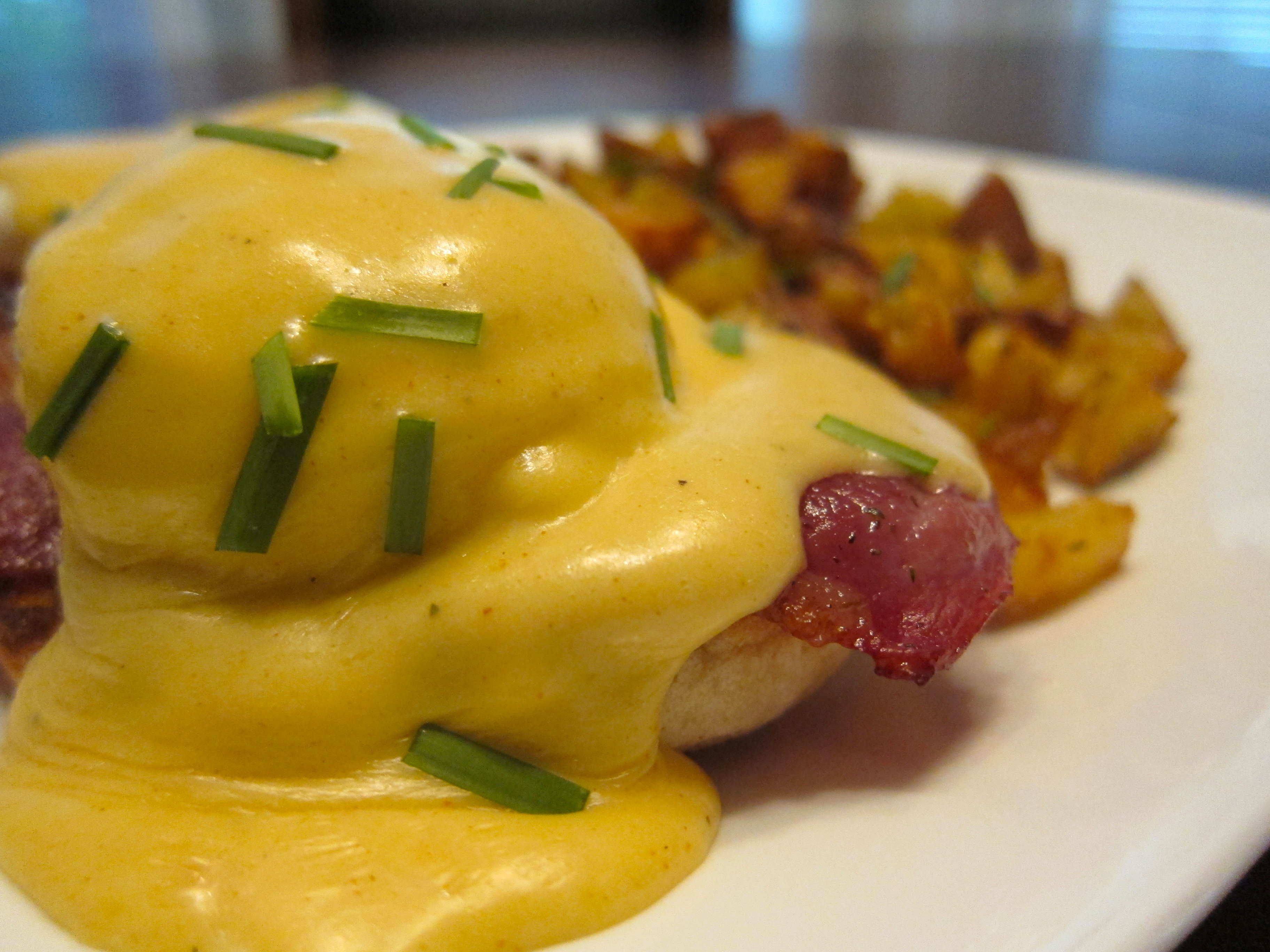 Eggs Benedict with Creole Hollandaise