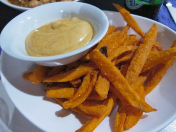 Sweet Potato fries at Creole Envie
