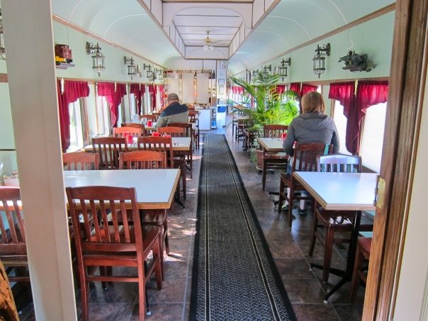 The Footloose Caboose Dining car