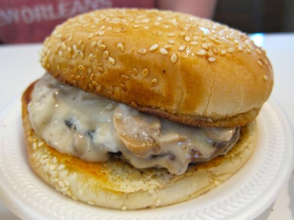 The Mushroom Burger at Betsy's Burger Bar